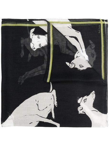 Paul Smith dog print scarf in black