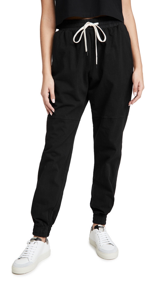 Bassike Double Jersey Track Pants in black