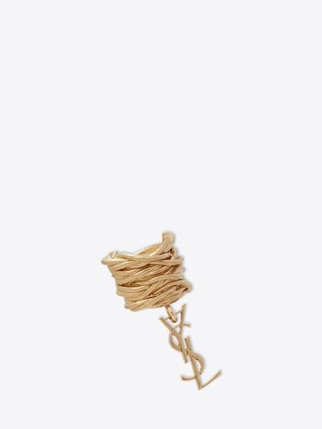 Saint Laurent Earring Opyum Monogram Gold