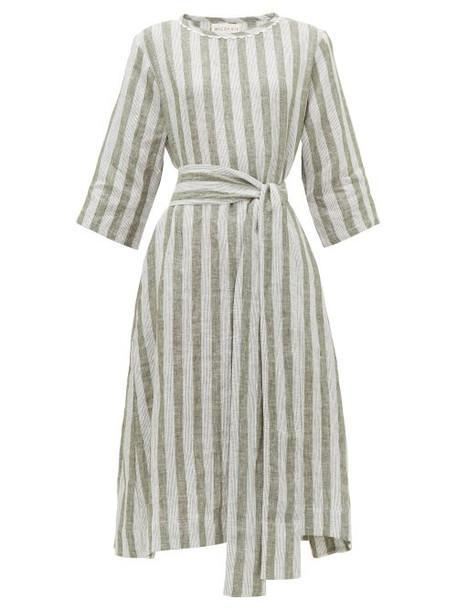 Wiggy Kit - Nomad Striped Linen Dress - Womens - Green Stripe