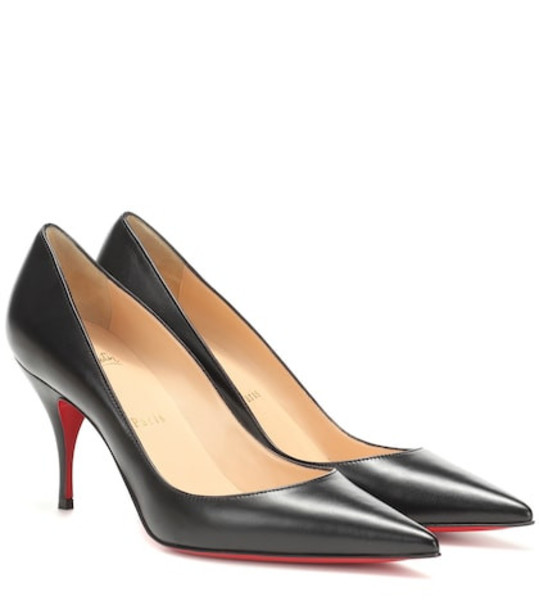 Christian Louboutin Clare 80 nappa leather pumps in black