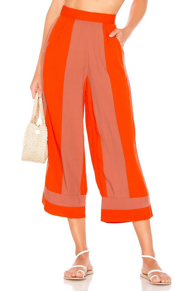 Lovers + Friends Ethal Pant in orange
