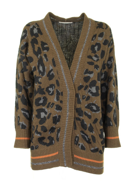 Fabiana Filippi V-neck Wool And Cashmere Cardigan in green