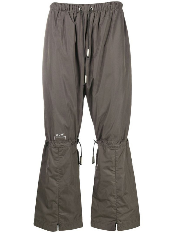 A-COLD-WALL* drawstring-waist straight trousers in grey