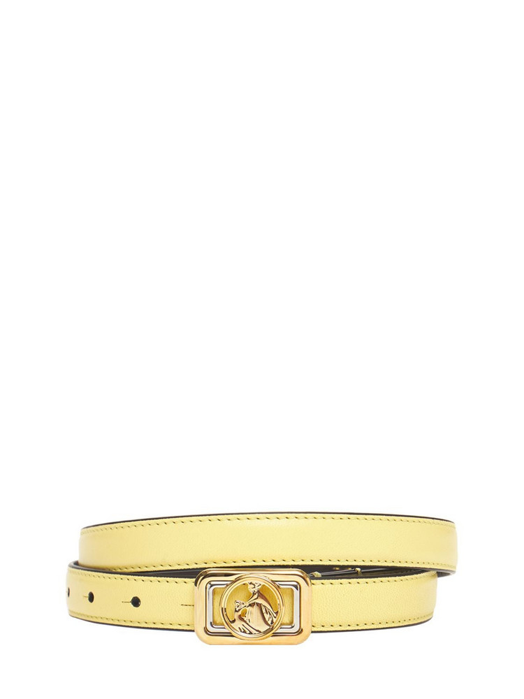 LANVIN 30mm Mini Swan Leather Belt