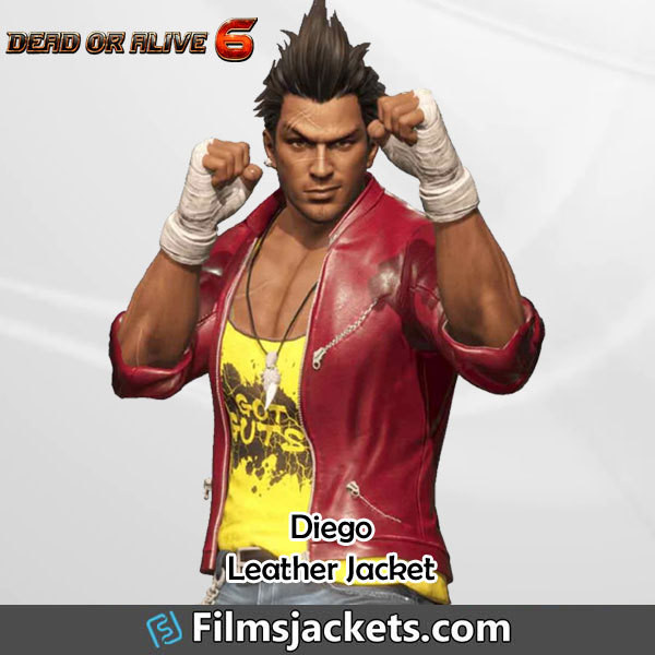 coat video game dead or alive 6 leather jacket jacket fashion outfit style menswear mens  fashion men's outfit