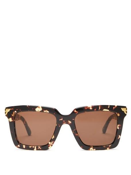 Bottega Veneta - Square Acetate Sunglasses - Womens - Tortoiseshell