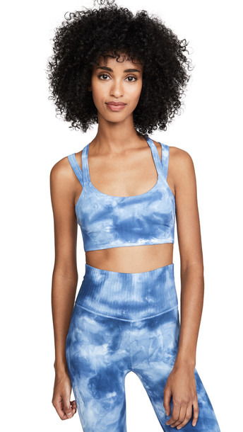 Free People On The Radar Tie Dye Sports Bra in blue