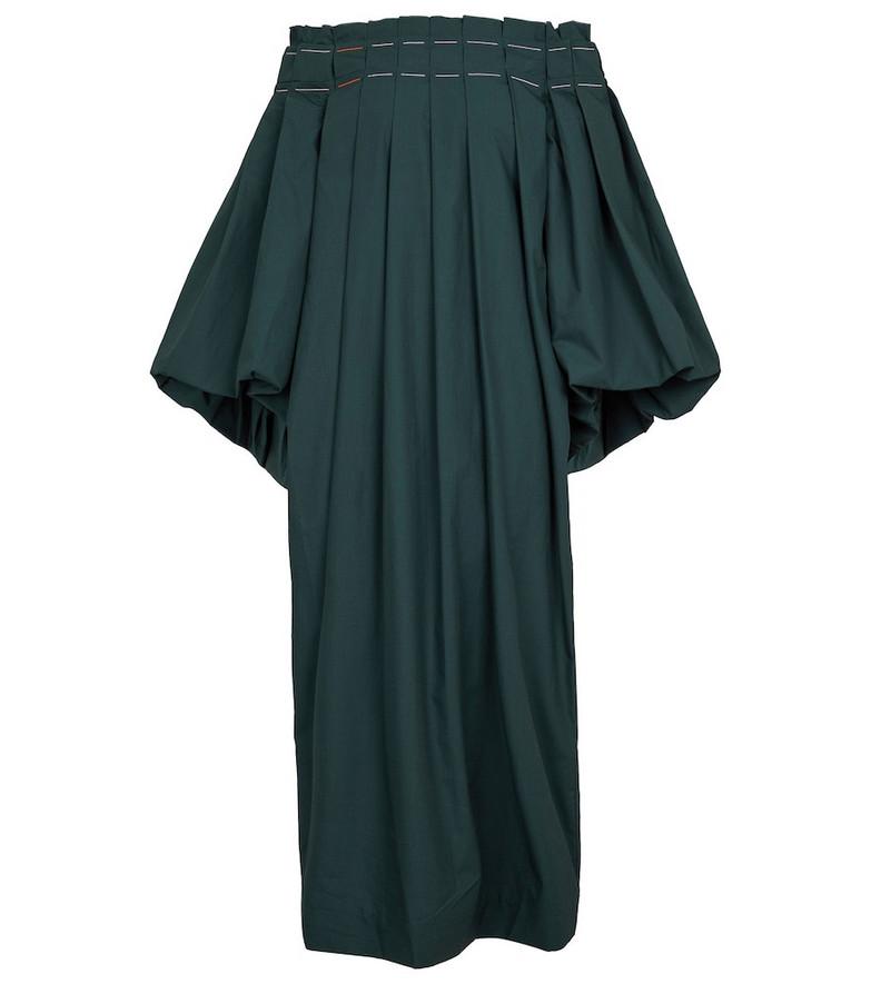 ROKSANDA Heloni off-shoulder pleated dress in green