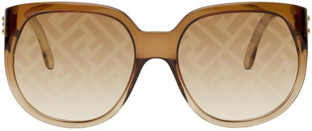 Fendi Brown 'Forever Fendi' Round Sunglasses
