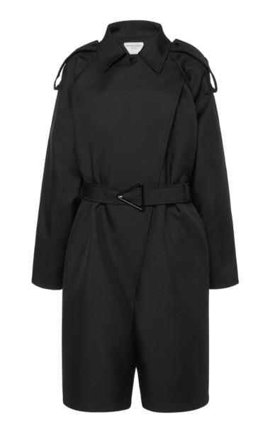 Bottega Veneta Belted Gabardine Jumpsuit in black