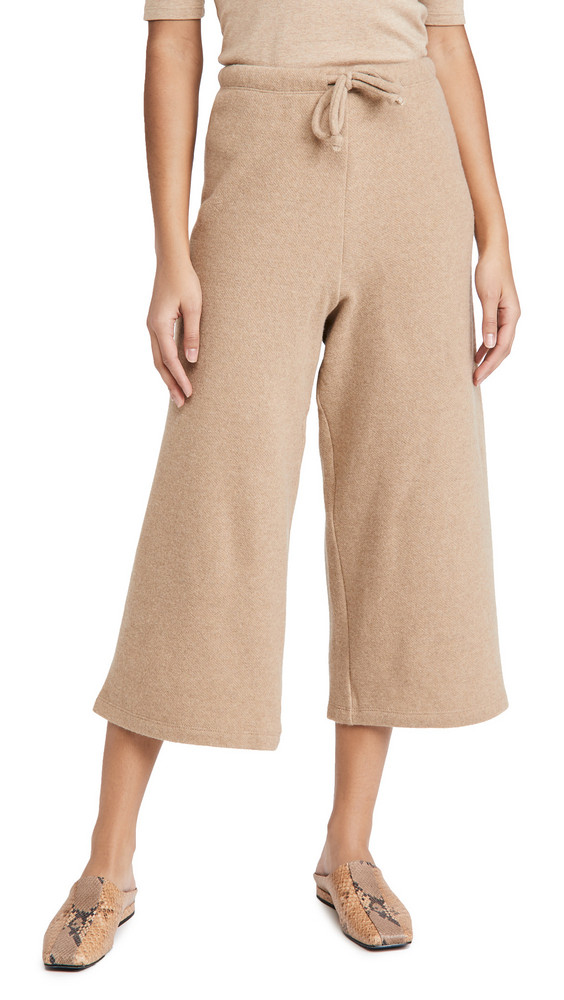 Leset Sierra Drawstring Gaucho Pants in beige