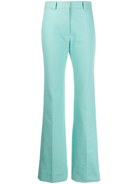Victoria Beckham high waisted long length trousers in blue