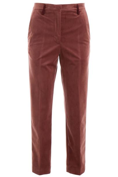Golden Goose Velvet Trousers in brown
