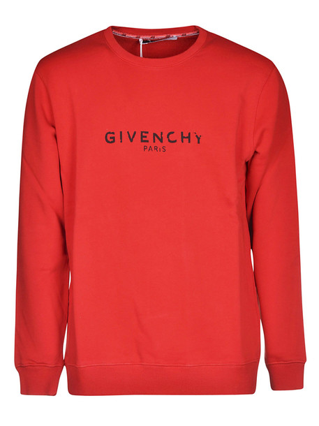 Givenchy Vintage Logo Sweatshirt in red