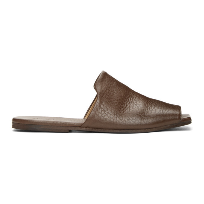 Marsell Brown Spatola Sandals in chocolate