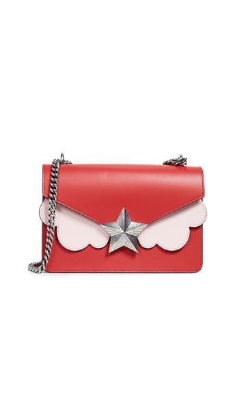 bag shoulder bag light pink green red
