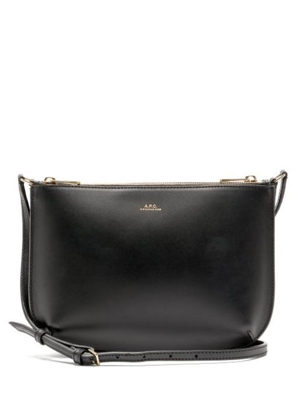 A.P.C. A.p.c. - Sarah Leather Cross Body Bag - Womens - Black