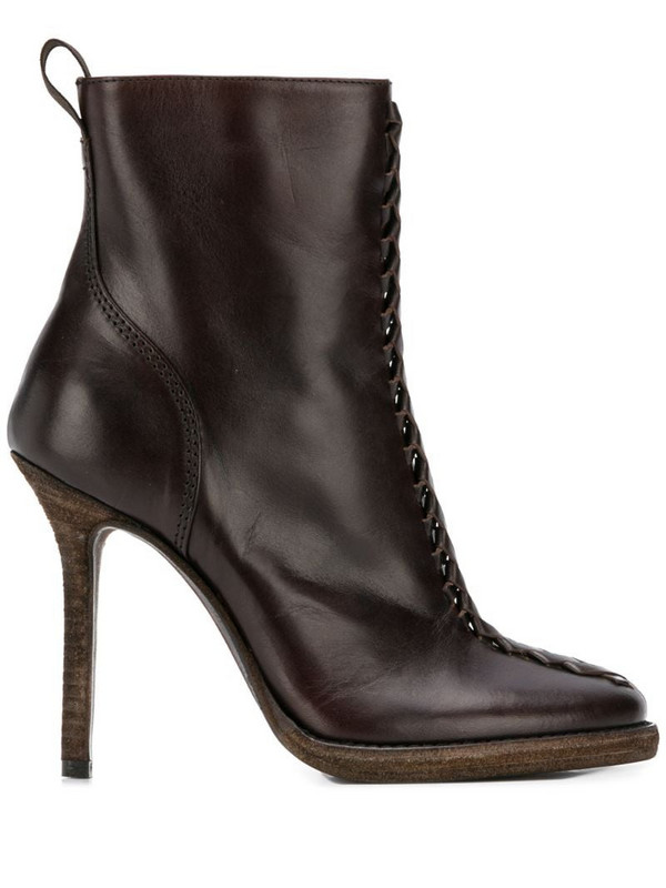 Haider Ackermann zipped ankle boots in brown