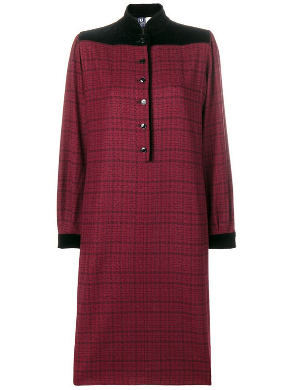 Emanuel Ungaro Pre-Owned check dress in red