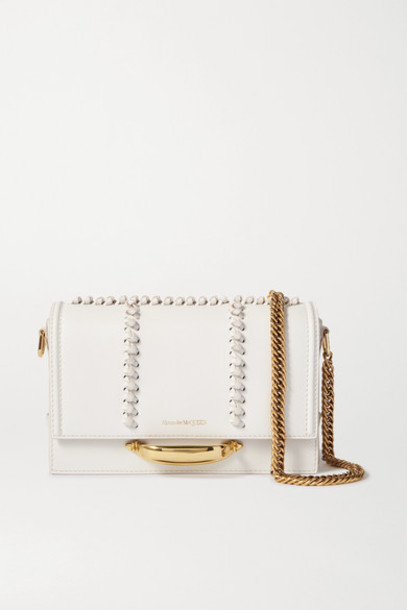 Alexander McQueen - The Story Leather Shoulder Bag - Off-white