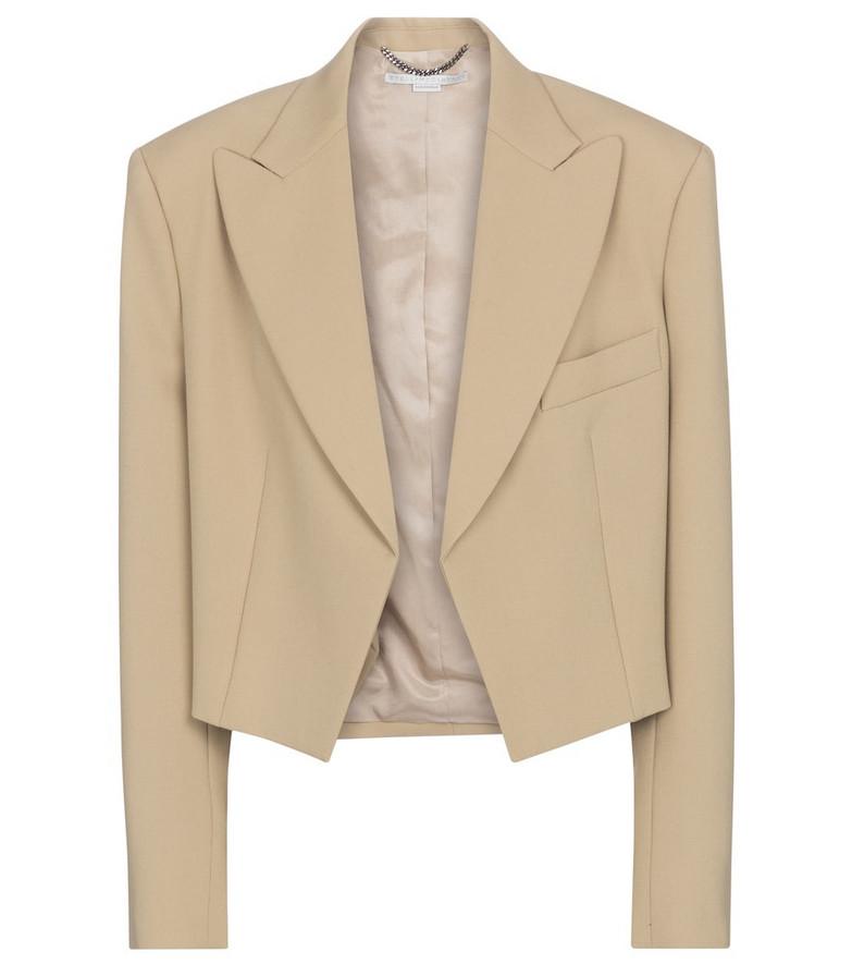 Stella McCartney Adley wool blazer in beige