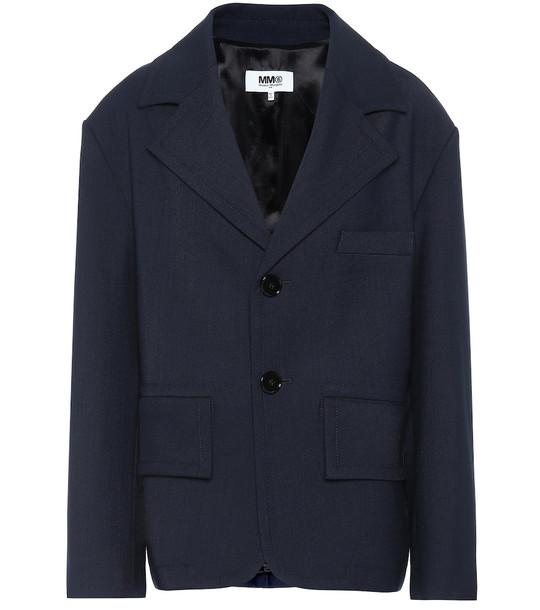 MM6 Maison Margiela Single-breasted blazer in blue
