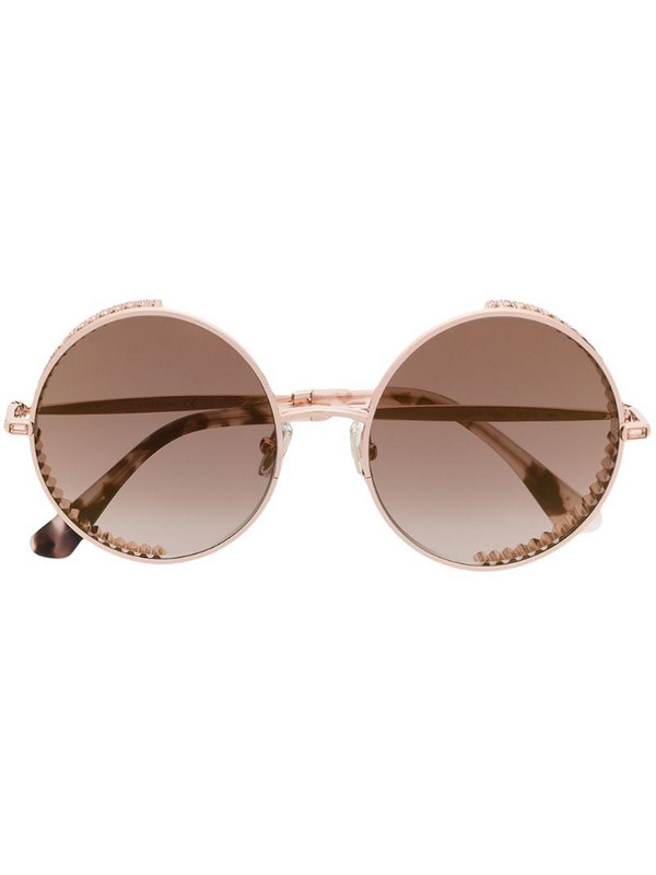 Jimmy Choo Eyewear round frame sunglasses in gold
