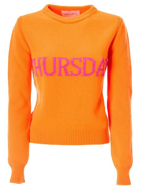 Alberta Ferretti Thursday Sweater in orange