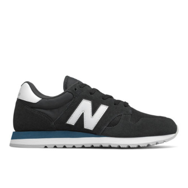 New Balance 520 Men's & Women's Running Classics Shoes - Black/White (U520GF)