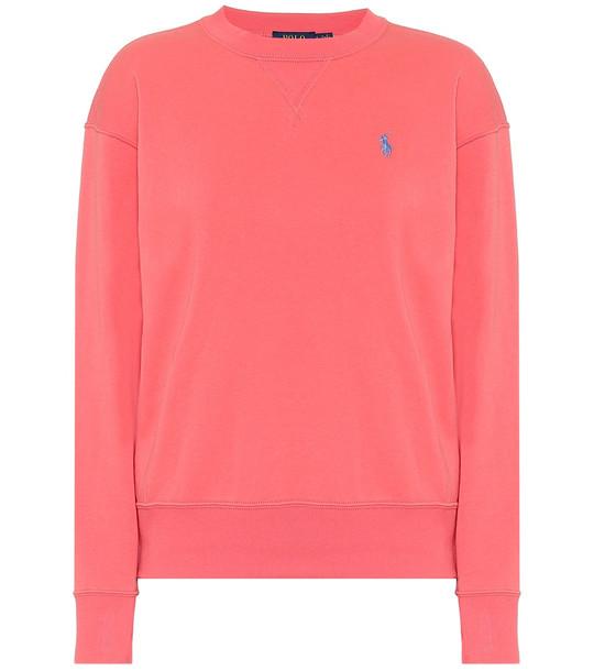 Polo Ralph Lauren Cotton-blend sweatshirt in red