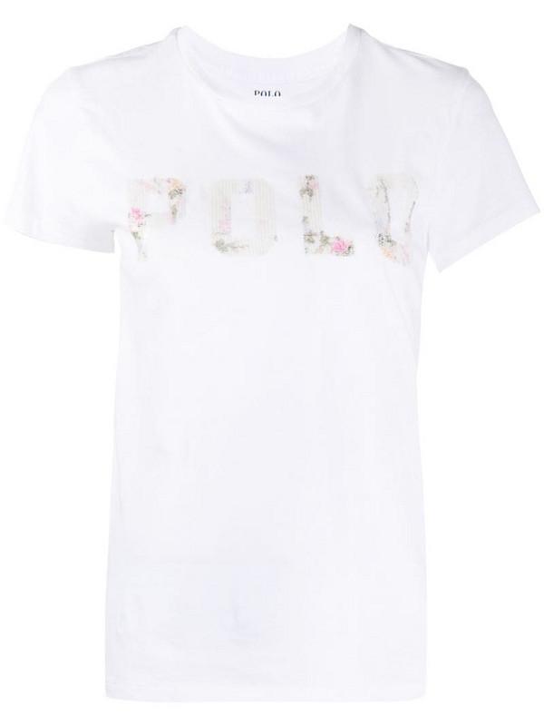 Polo Ralph Lauren short sleeve logo print T-shirt in white