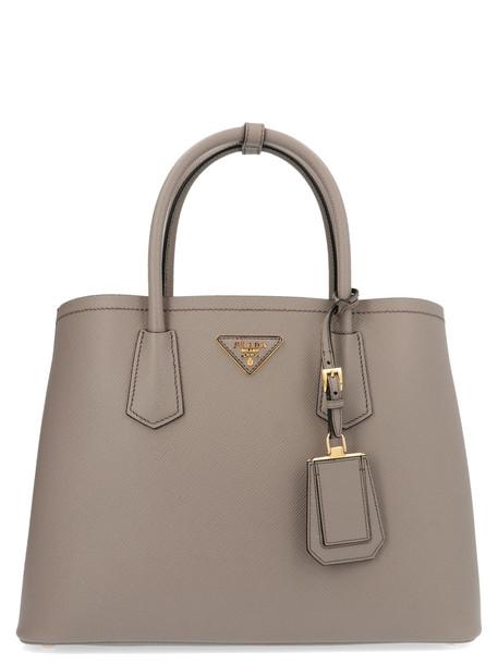 Prada double Bag in grey