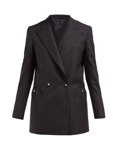Blazé Milano - J Class Double Breasted Pinstripe Wool Blazer - Womens - Navy Stripe