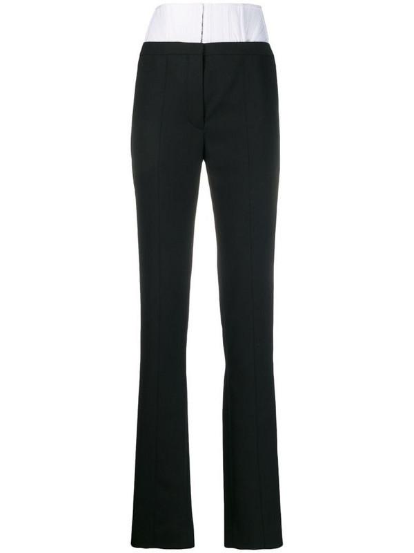 Mugler high waisted corset trousers in black