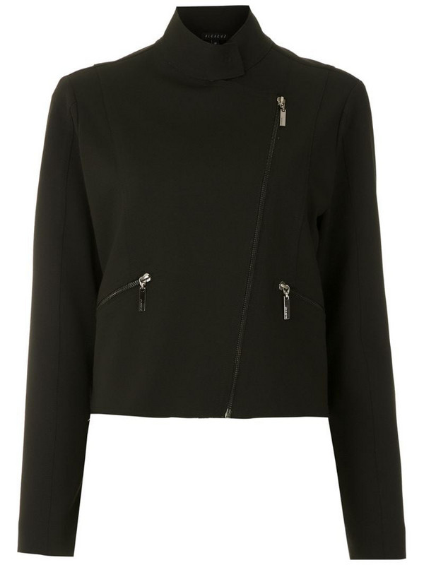 Alcaçuz zip-detail fitted jacket in black