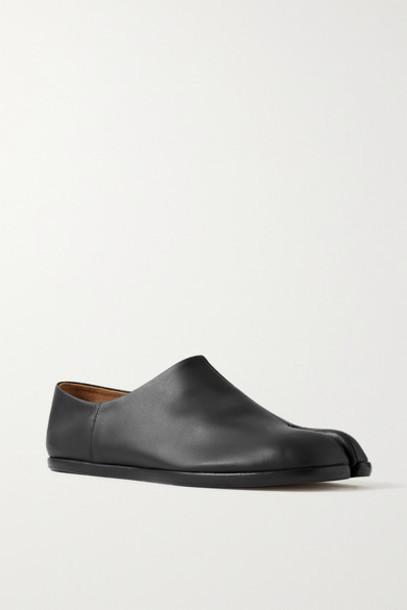 Maison Margiela - Split-toe Leather Collapsible-heel Loafers - Black