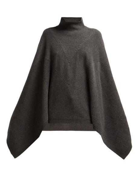 Givenchy - High Neck Cashmere Sweater - Womens - Dark Grey