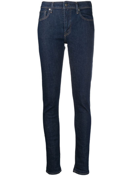 Levi's: Made & Crafted 721 skinny jeans in blue