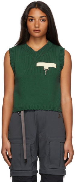 Reese Cooper Knit Sweater Vest in green