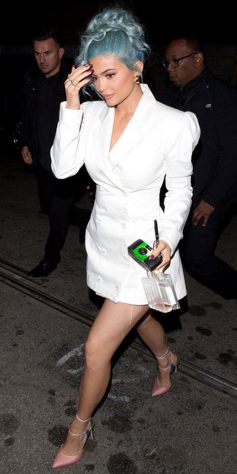 dress white blazer blazer dress kylie jenner kardashians mini dress pumps