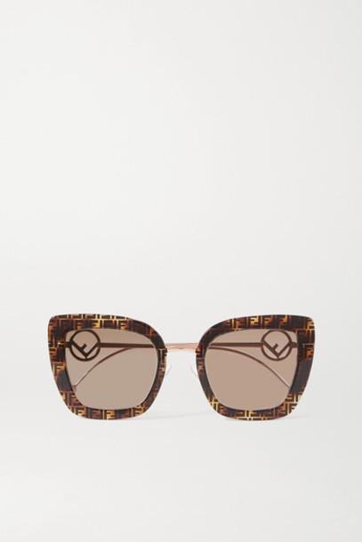 Fendi - Cat-eye Tortoiseshell Acetate And Gold-tone Sunglasses