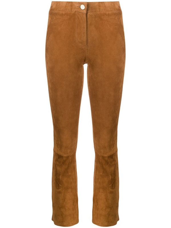 Arma Lively cropped trousers in brown