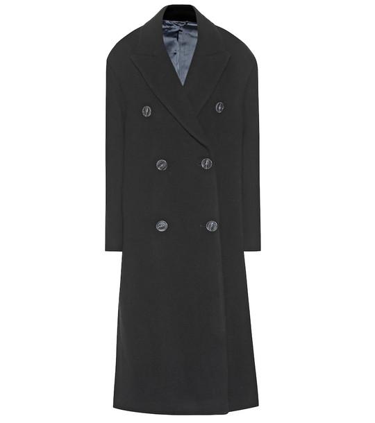 Acne Studios Wool-blend overcoat in black