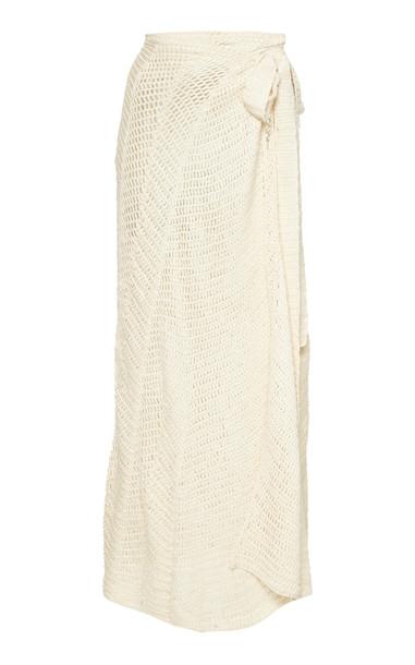 Akoia Swim Cecile Crocheted Cotton Maxi Skirt Size: XS/S in white