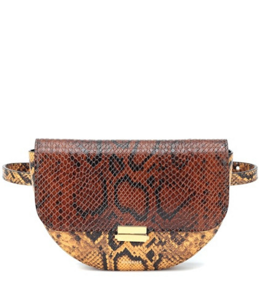Wandler Anna Buckle leather belt bag in brown