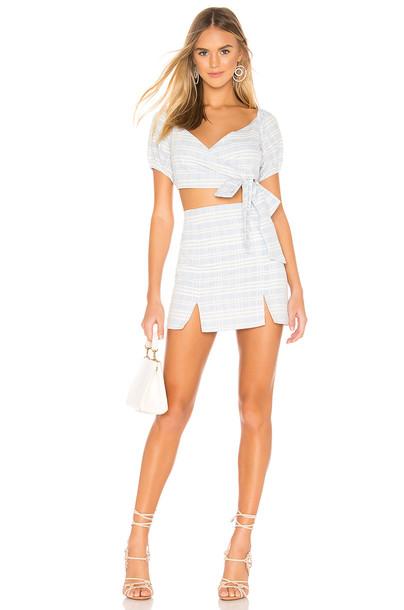superdown Lila Skirt Set in blue