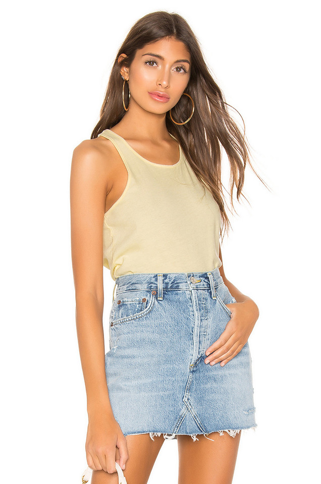 Frank & Eileen Tee Lab Base Layer Tank in yellow