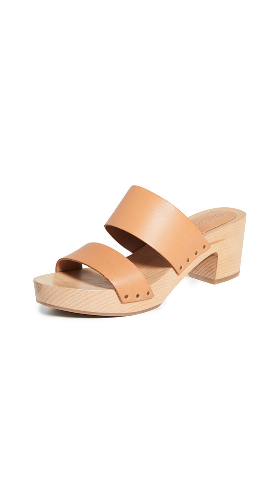 Madewell The Clara Clog Sandals in camel