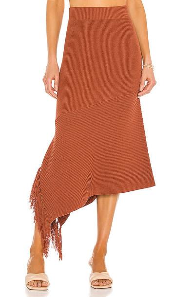 A.L.C. A.L.C. Costello Skirt in Rust